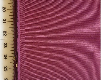 cotton Upholstery weight Home dec Burgundy Stripe almost 4yd