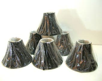 Black Chandelier Shades, Set of Six