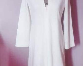 Pure White Long Robe with Hood, Ritual, Purity, Magic, Festival, Gathering, Peace, Calm, Kundalini, Gown, Trance, Divinity, Magnificence