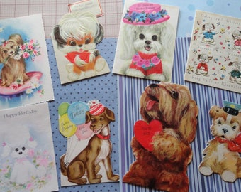Puppy Love and Mans Best Friend in All Occasion Lot No 249 Die Cut and All Breeds of Dogs Total of 8 Cards