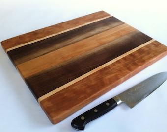 RECLAIMED Mixed Hardwoods BEAUTIFUL LARGE Cutting Board