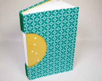 Journal, Notebook, Sketchbook or Guestbook, Unique and Hand-bound in Turquoise Patterns
