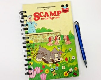Scamp to the Rescue, Recycled Book Journal