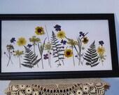 10x20 pressed flower custom design for Kristen