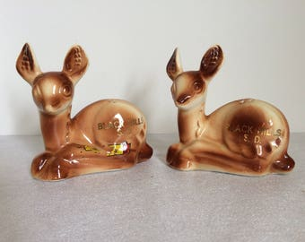 Ceramic Deer Salt and Pepper Shakers