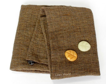 Waffle Linen Bath Towel | Brown Pure Linen Flax Bath Towel | 100% Natural Linen Sauna Towel | Bohemian Gift for Home #EtsyGifts