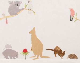 Fabric Wall Decals Australiana (no pvc)