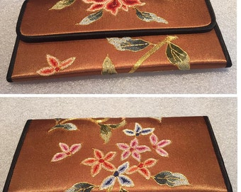 Free Shipping Chinese hand embroidered silk purse wallet handbag Suzhou embroidery