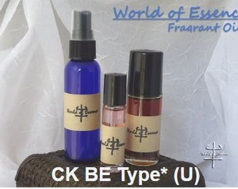 100% Pure Perfume Fragrance Body Oil- CK BE Type* (U)