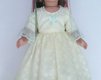Sun Princess style  ball gown, 2 pc. fits American Girl 18 in. dolls. No.693