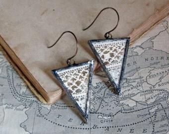 Lace Earrings Boho Triangle Jewelry