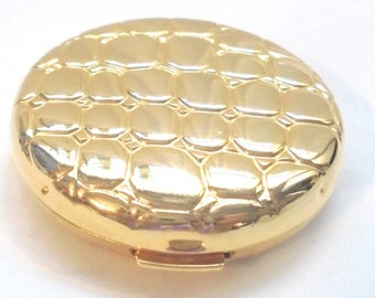 "Estee Lauder ""GOLDEN ALLIGATOR"" Collectible Compact. Lucidity Pressed Powder"