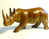 Carved wood African rhinocerous