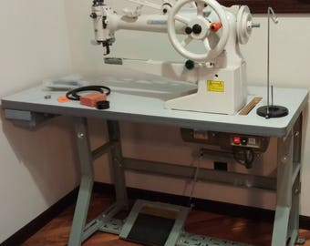 Econosew Extra-heavy Cylinder-bed Lockstitch Patching Machine 29E72LBT w/ Table & Motor