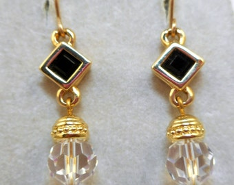 NOS Swarovski Savvy Earrings - MOC