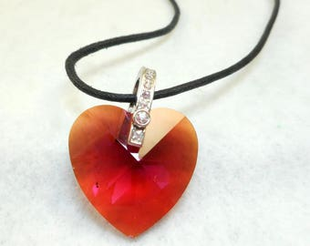 Swarovski Red Heart Necklace