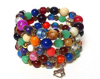 KALEIDOSCOPE Coil Beaded Bracelet by Beading Divas Fundraiser
