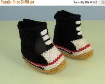 50% OFF SALE Instant Digital File pdf download knitting pattern- Baby Retro Baseball Boots Booties Bootees pdf download knitting pattern