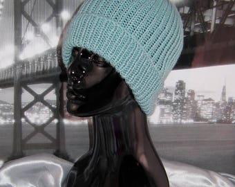 50% OFF SALE Simple Unisex Ski Beanie CIRCULAR knitting pattern by madmonkeyknits