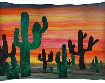 Desert cactus sunset  dog or cat bed from my art