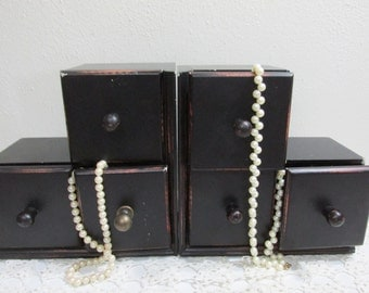 Bookends Tall with Drawers Jewelry Trinket Chest Book Holders
