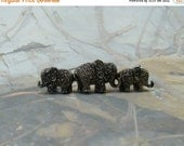 HOLD for KATHLEEN Vintage Elephants Brooch Marcasite Lovely Little Pacaderms Three Elphants all in a Row Elephants on Parade PLUS a bonus :)