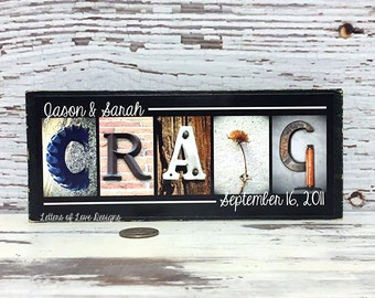 Wedding Gift, Custom Last Name Wedding Sign, Save the Date, Personalized Wedding Gift, Mr and Mrs Sign, Custom Established Est Date Sign