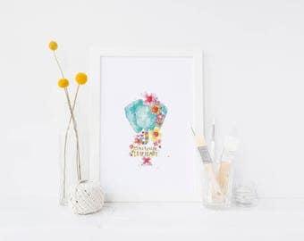 dear heart - an 8xl0 print