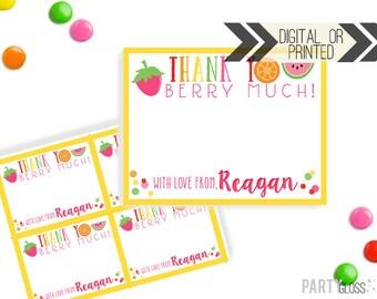 Tutti Frutti Party Thank You Card | Twotti Frutti Thank You | Digital or Printed | Frutti Party | Fruit Party Thank You Note | Tutti Fruitti