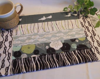 "Quilted Table Topper...in ""Low Tide"""