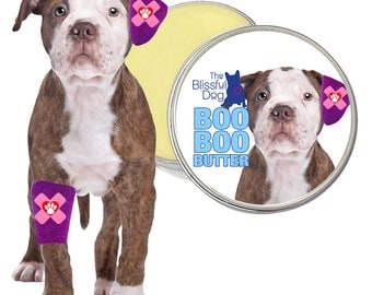 American Bulldog Boo Boo Butter Handcrafted All Natural Herbal Balm for Dog Discomforts 1 oz tin with American Bullie Label in Gift Bag