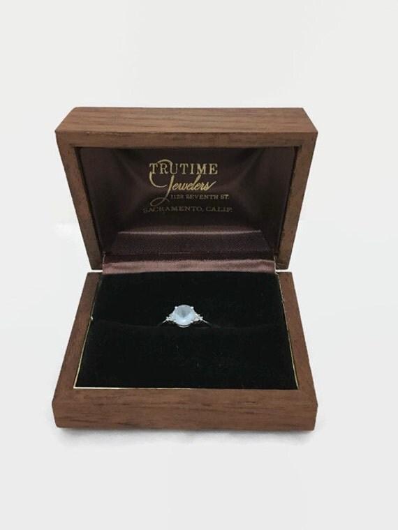 Vintage Wooden Ring Box - Engagement, Presentation, Display Box