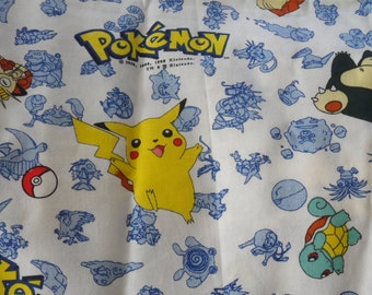 Lightweight POKEMON NOVELTY FABRIC/Pokemon Novelty Fabric from Spring Industries/100 Percent Shirtweight Pokemon Novelty Fabric/
