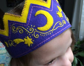 Boy or Girl Waldorf Birthday Crown, Star Fairy Crown