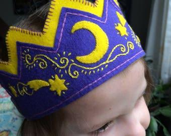 Boy or Girl Waldorf Birthday Crown, Star Fairy Crown