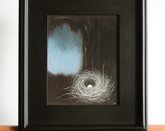 Nest Giclee Print on Canvas in 8x10 Inch Wood Frame