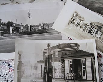 Vintage Gas Service Centers Photo Lot of 8 E Coast Mid Century and Older Crew Levick Co Gulf Esso Cities Serv Oils Read Details Free US Ship