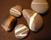 Sea Tumbled Stones - Polished Smooth in Irish Sea Waters - Greystones Beach - Unique Sea Treasure - gift for beach combers