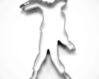 "Zombie Cookie cutter, Undead cookie cutter, 4.5"" metal cookie cutter"
