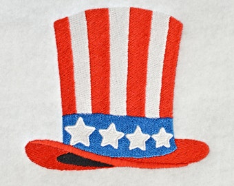 Patriotic Hat Embroidery Design, INSTANT DIGITAL DOWNLOAD, for Machine Embroidery 4x4