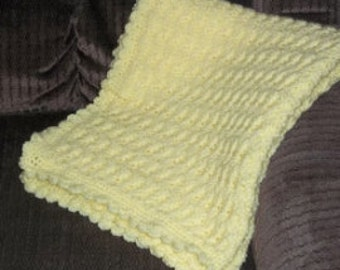 Hand Crocheted Yellow Baby Blanket