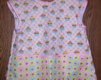 Girls Cupcake Apron Smock