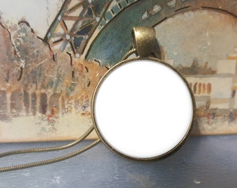 Two Templates - 1 Inch Round Tray Pendants on Snake Chain
