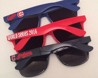 Personalized Sunglasses, Baseball Sunglasses, Chicago, Cubs, Cleveland, Indians, Birthday Gift, Custom Sunglasses