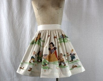 Vintage Snow White Skirt OOAK Recycled