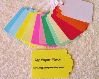 PRESTRUNG -  Cardstock Tags  -Choose Your Color