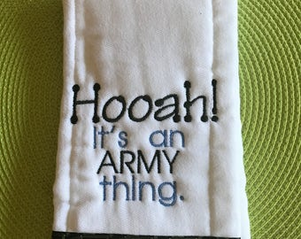 Hooah Burp Cloth