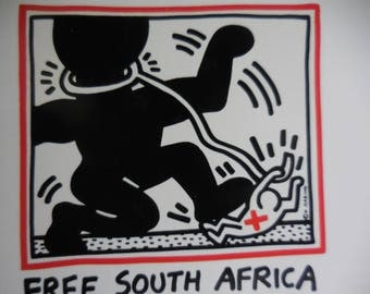 Keith Haring RPPC Great Artists Series Postcard Format Free South Africa Ships Free Anywhere