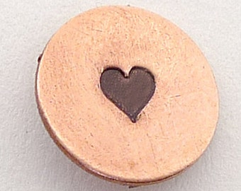 Metal Steel Stamps SOLID HEART 3mm  Design Stamp Jewelry Stamping - The Urban Beader