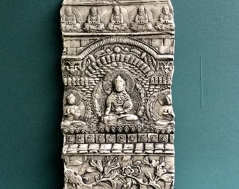 Buddha Ceramic Pottery Relief Sculpture Tile